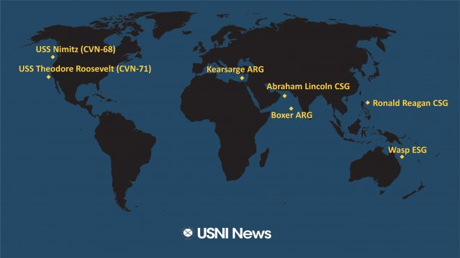USNI News Fleet and Marine Tracker: June 24, 2019