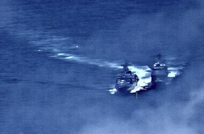VIDEO: Russian Destroyer Put U.S. Cruiser at Risk with 'Unsafe' Maneuver