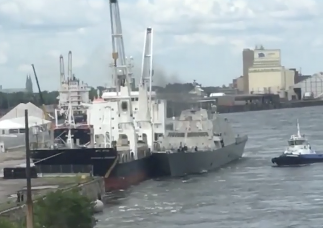LCS Billings Commander Removed After Hitting Merchant Ship in Montreal