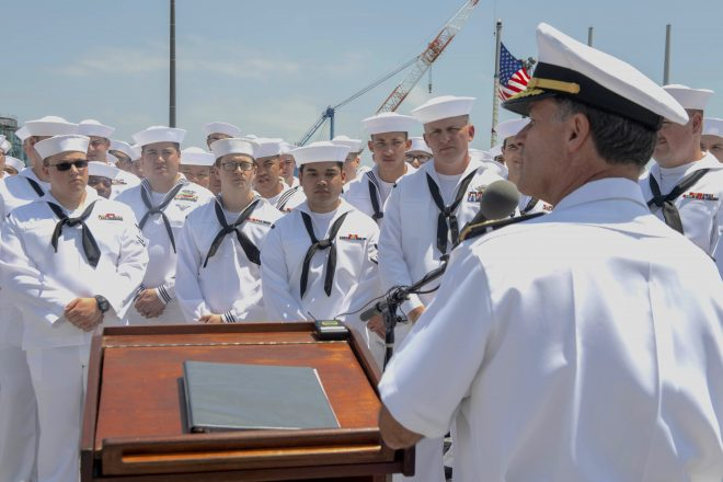 50 Sailors from USS John S. McCain Honored for Actions During 2017 Collision