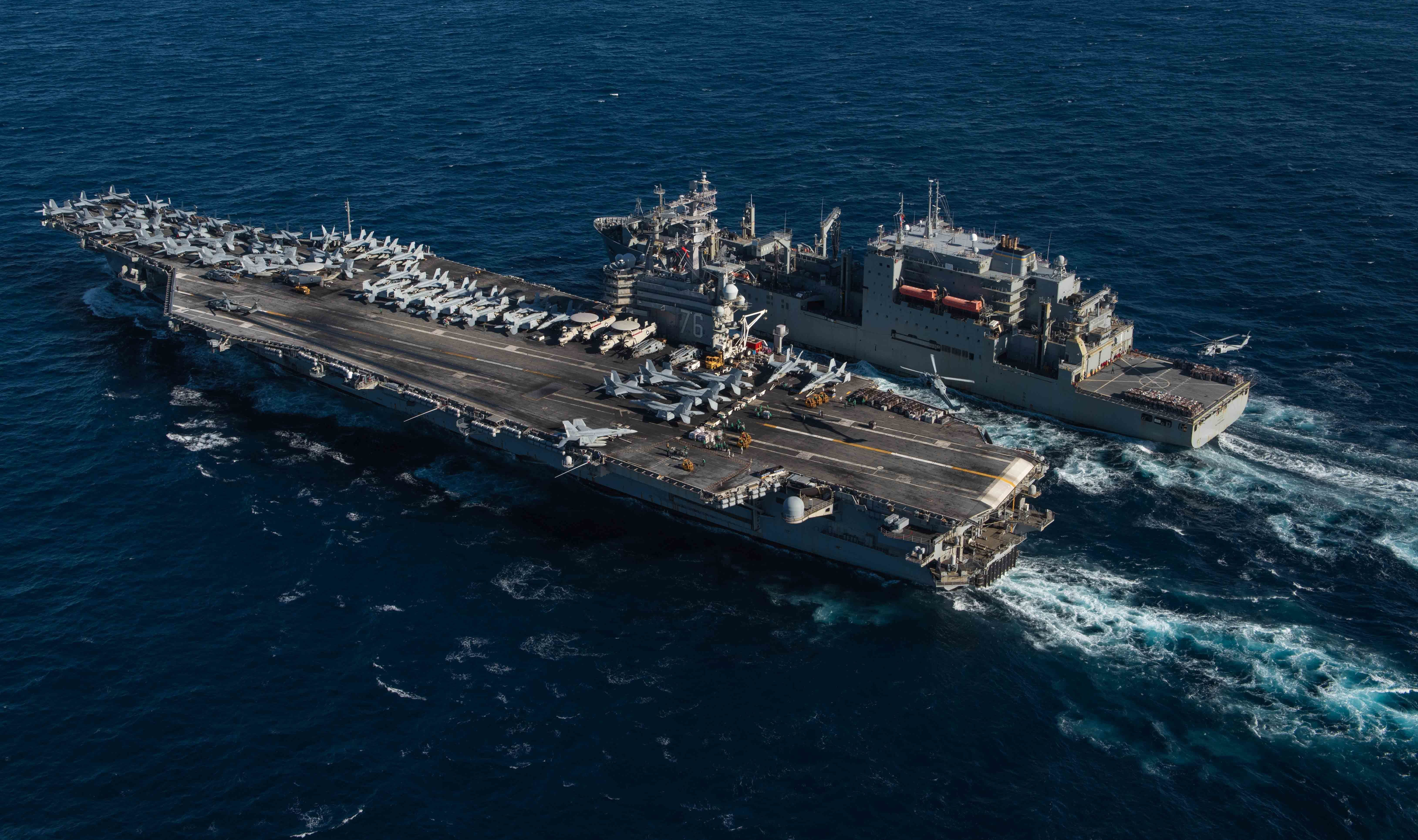 Беспрецедентный рост активности американского флота - 11 авианосцев в море! Дислокация на 17 июля...