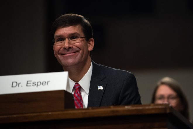 SECDEF Nominee Esper Commits to High-End Direction for Pentagon