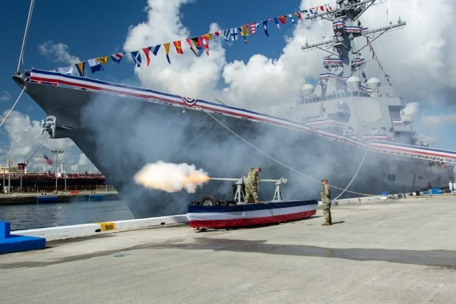 Navy Commissions Destroyer USS Paul Ignatius