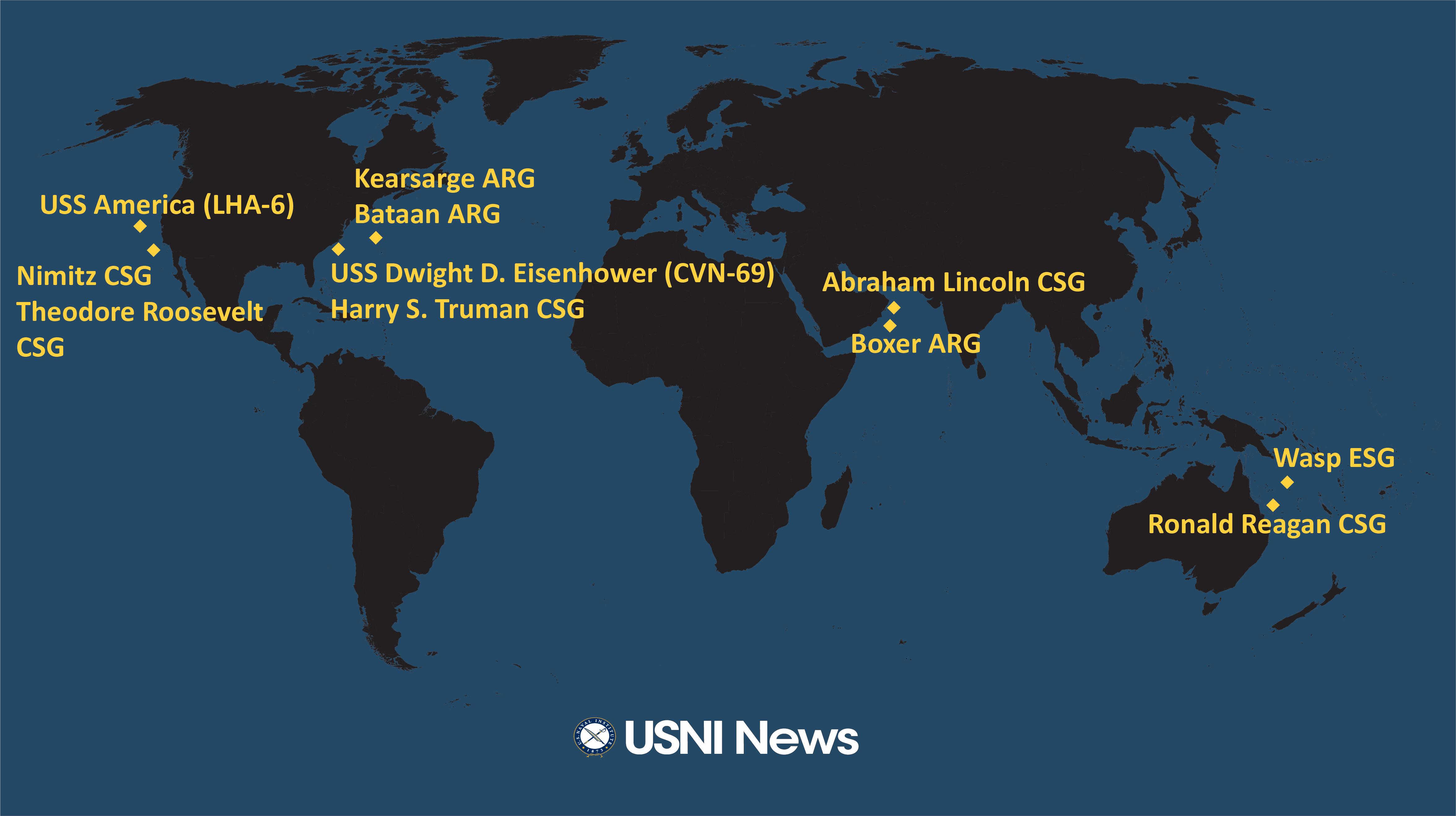 USNI News Fleet and Marine Tracker: July 15, 2019