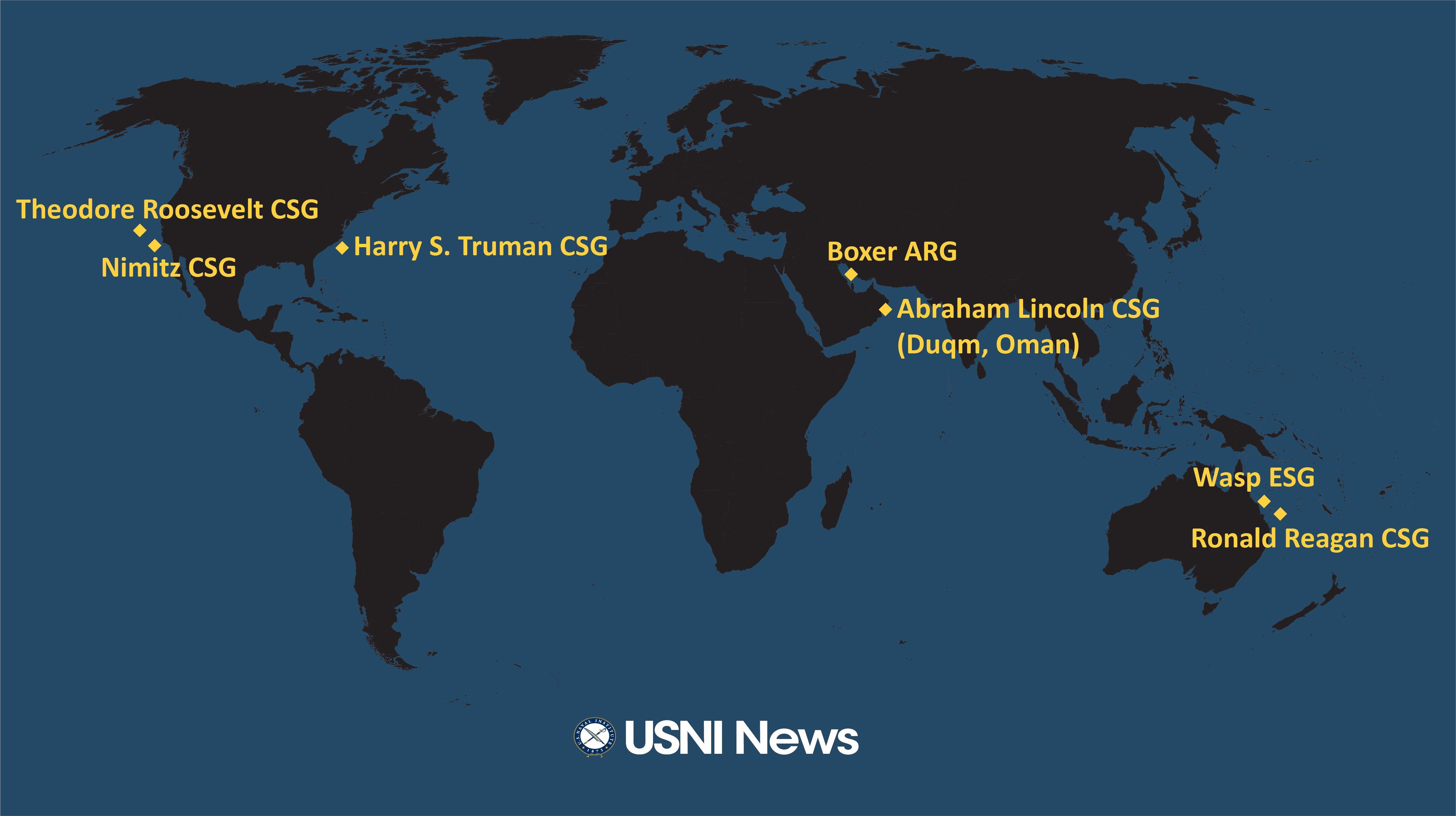USNI News Fleet and Marine Tracker: July 22, 2019 - USNI News