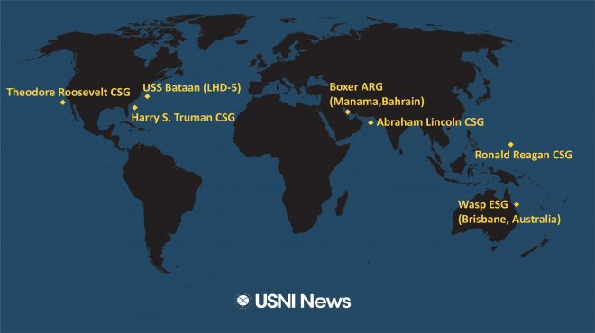 USNI News Fleet and Marine Tracker: July 29, 2019