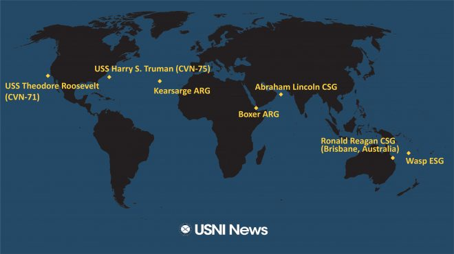 USNI News Fleet and Marine Tracker: July 8, 2019