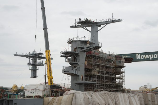 USS George Washington More Than Halfway Through RCOH, Will Leave Dry Dock Next Month