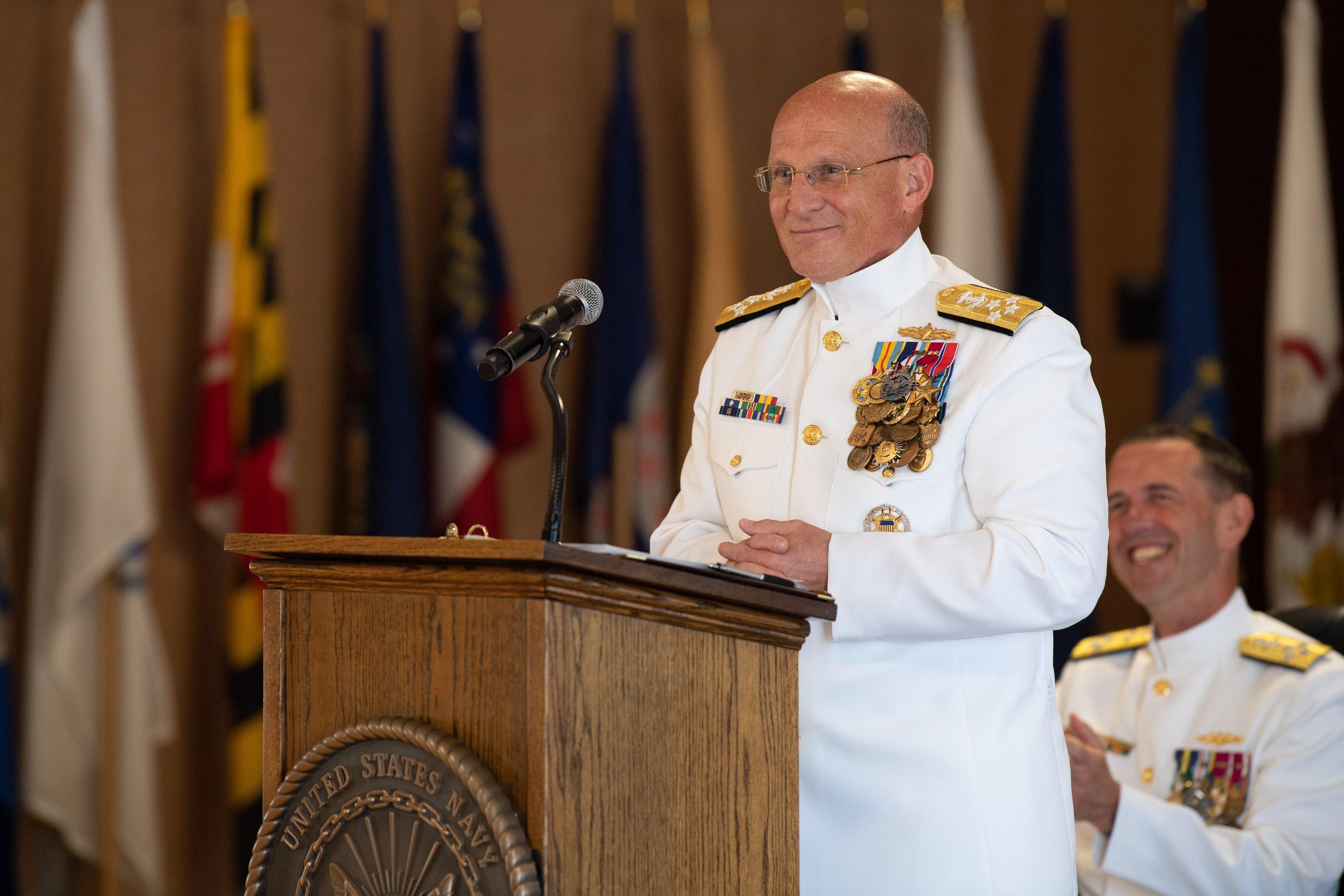 CNO Adm  Michael Gilday Takes Command - USNI News