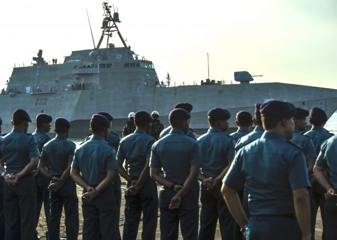 USS Montgomery at Sea for First International Exercise Since LCS Deployments Restarted