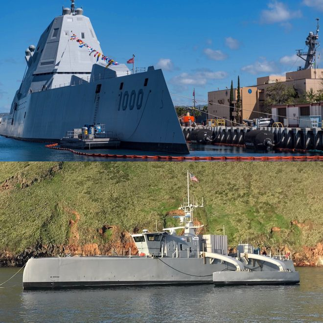 New Surface Squadron Receiving Unmanned Sea Hunter Ahead of Tests with Zumwalt Destroyers