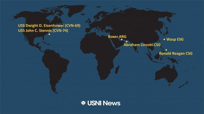 USNI News Fleet and Marine Tracker: Aug. 12, 2019