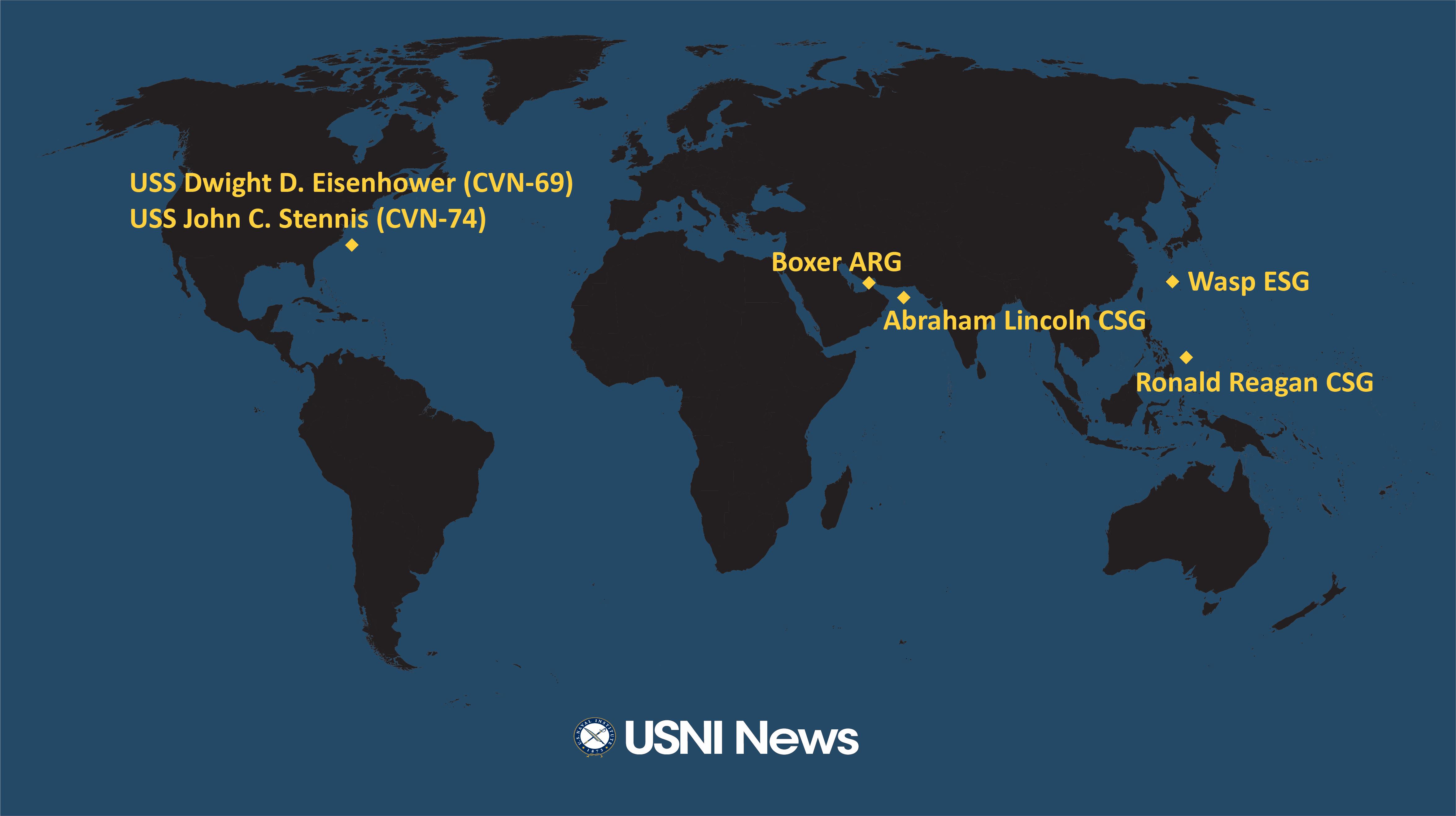 USNI News Fleet and Marine Tracker: Aug. 12, 2019