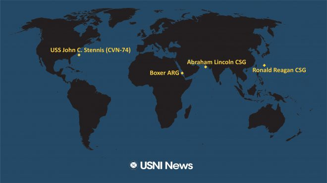 USNI News Fleet and Marine Tracker: Aug. 19, 2019