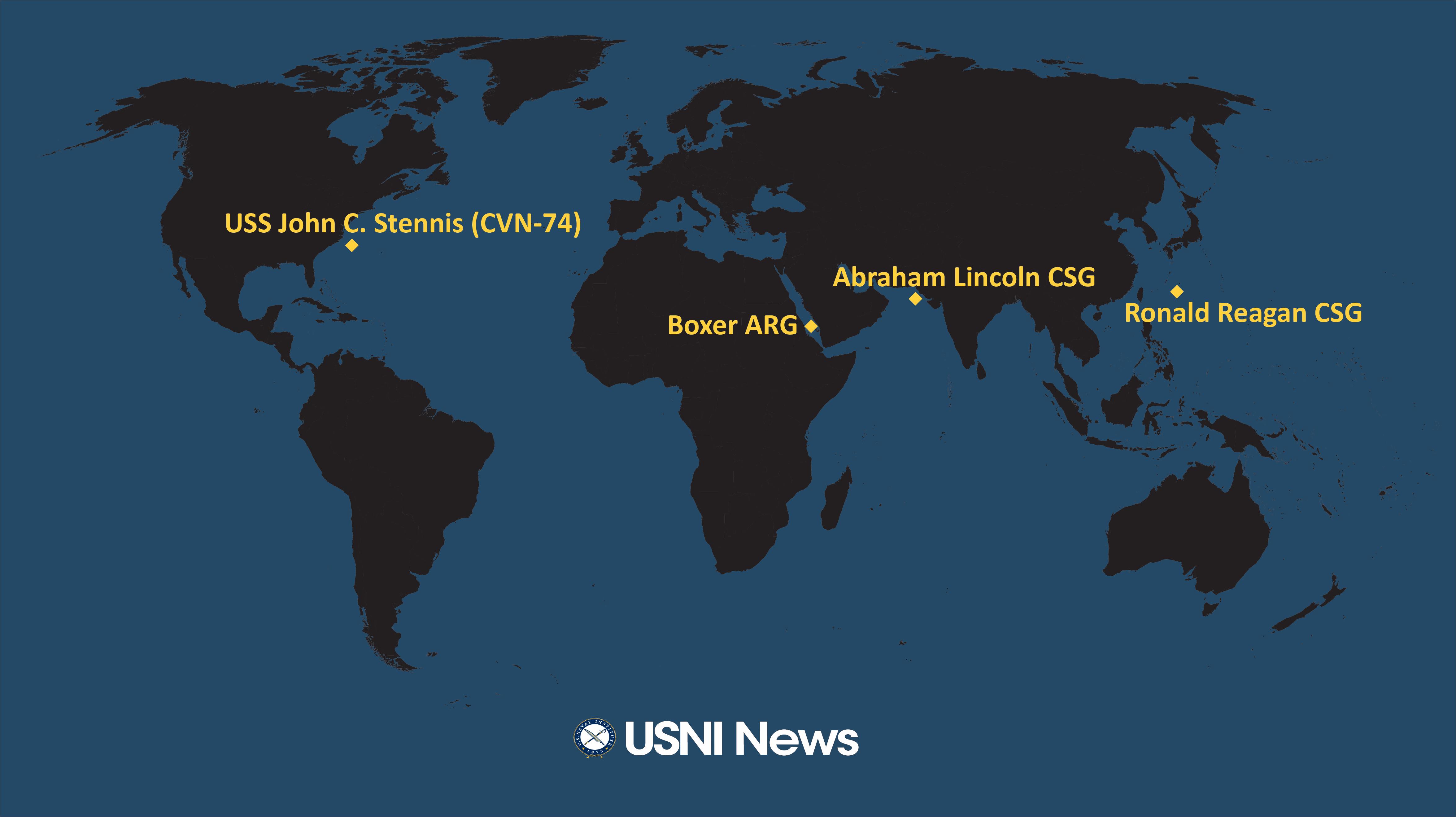 USNI News Fleet and Marine Tracker: Aug. 19, 2019