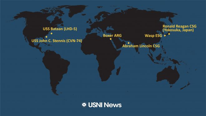 USNI News Fleet and Marine Tracker: Aug. 26, 2019