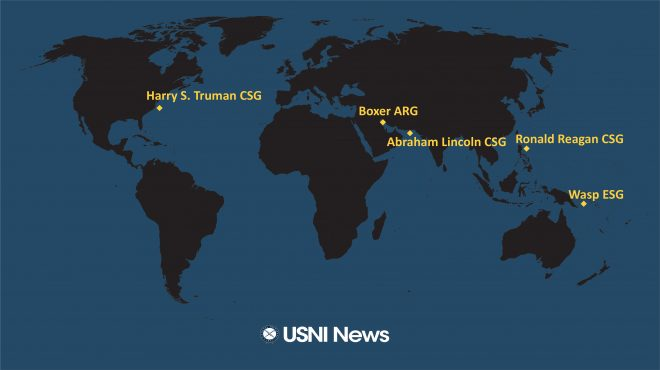 USNI News Fleet and Marine Tracker: Aug. 5, 2019