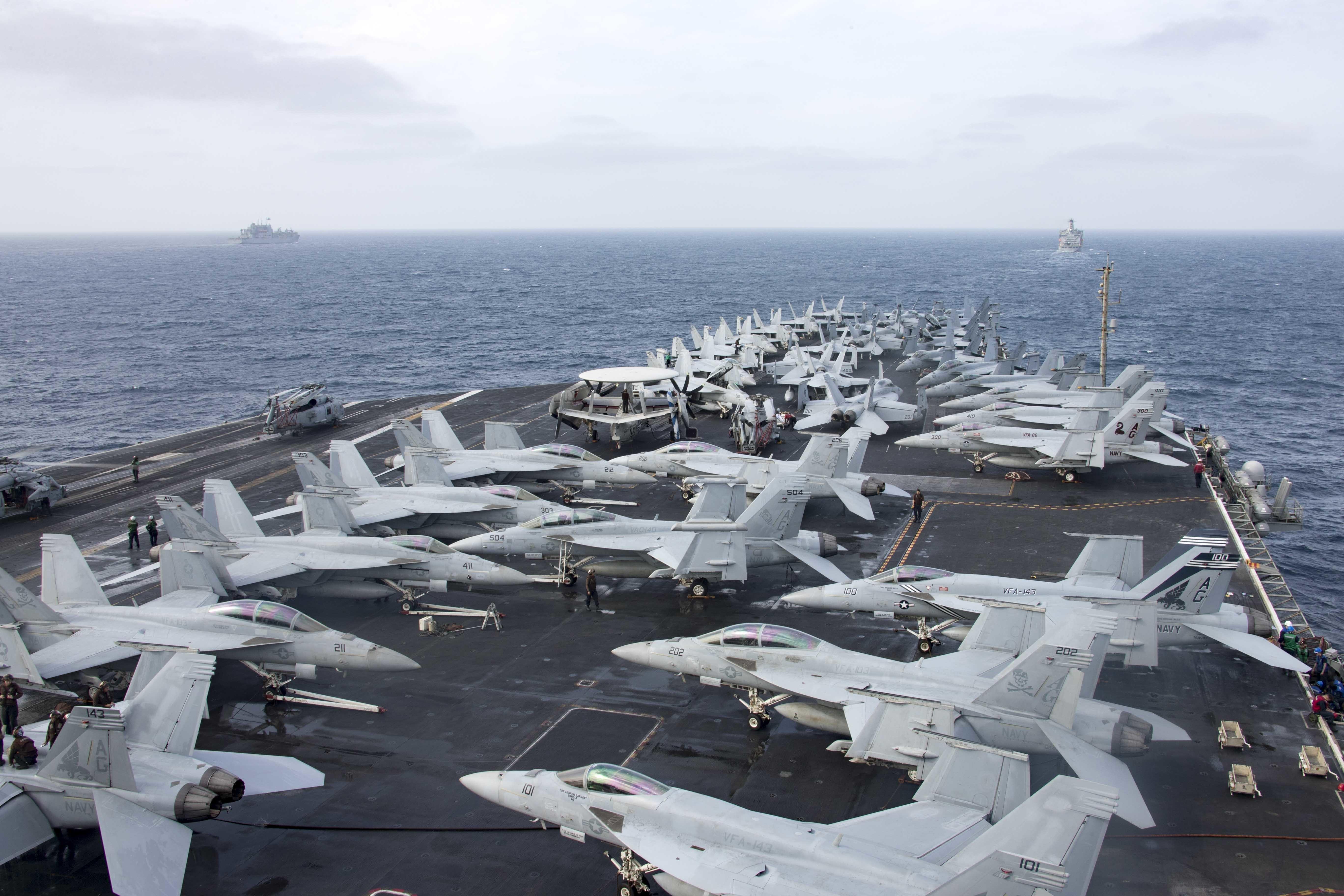 Американский флот за неделю - регулярный оперативный отчет. КОН на низком уровне
