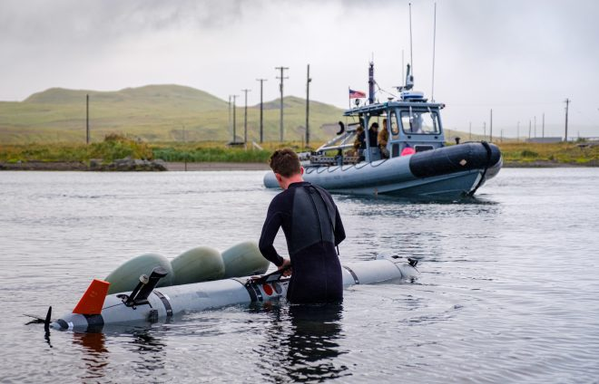 Navy EOD Exercising In Alaska to Test Unmanned Systems in Frigid Temps