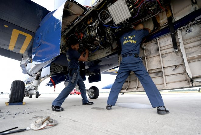 HELP WANTED: Blue Angels Seek Experienced Super Hornet Maintainers