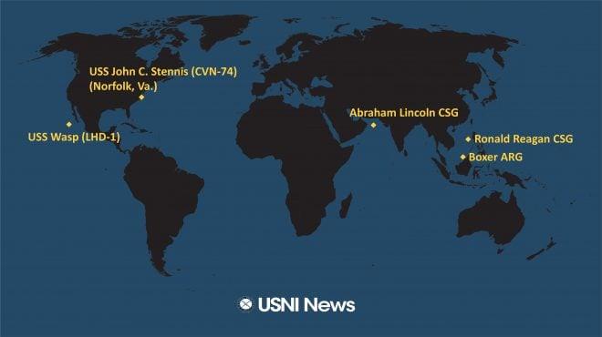 USNI News Fleet and Marine Tracker: Sept. 30, 2019
