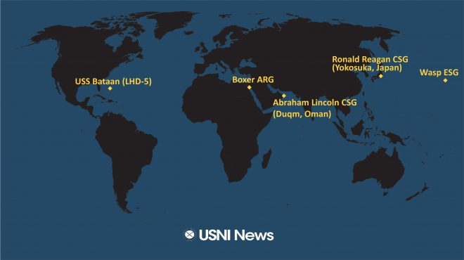 USNI News Fleet and Marine Tracker: Sept. 3, 2019