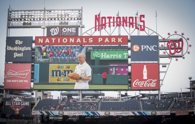 On the Field and Off, Washington Nationals Share Close Ties to the Navy