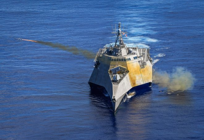 VIDEO: Navy Fires New Littoral Combat Ship Missile in Pacific SINKEX