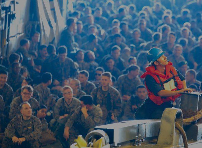 Sailors, Marines Adjusting to 'Brutal' Reality of High-End Warfare