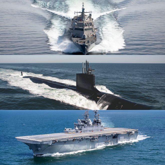 Navy Marks Progress on Three New Warship Hulls