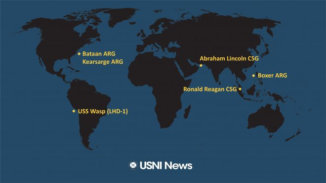 USNI News Fleet and Marine Tracker: Oct. 15, 2019