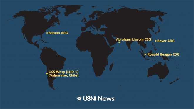 USNI News Fleet and Marine Tracker: Oct. 21, 2019