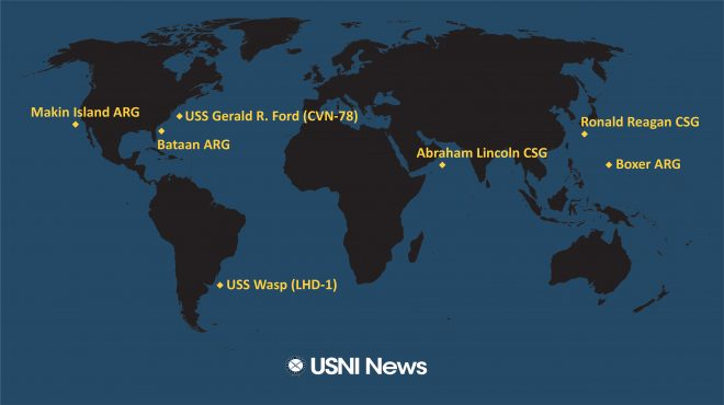 USNI News Fleet and Marine Tracker: Oct. 28, 2019