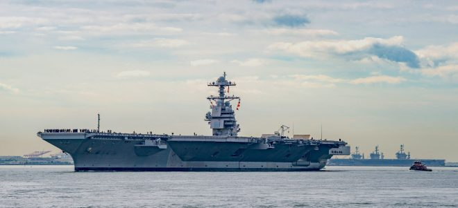 UPDATED: USS Gerald Ford Starts Sea Trials After More Than a Year of Repairs