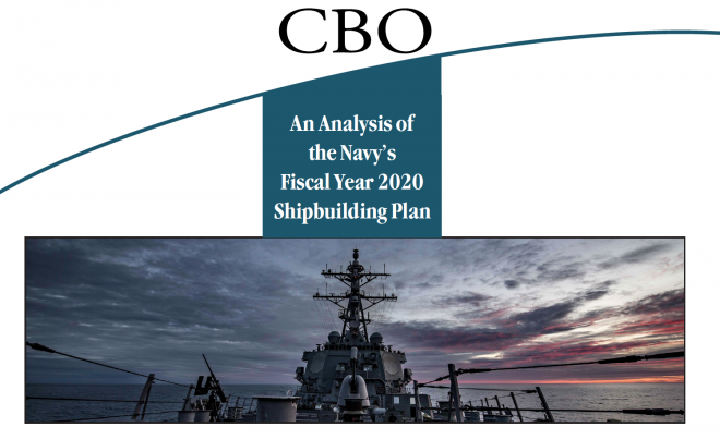 CBO Analysis of U.S. Navy FY 2020 Shipbuilding Plan