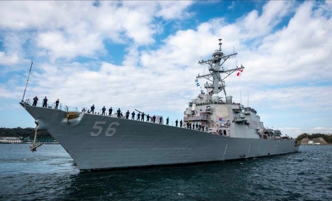 USS John S. McCain Back to Sea After Completing Repairs from Fatal 2017 Collision