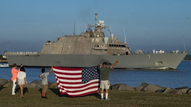 VIDEO: USS Detroit Departs for Maiden Deployment to SOUTHCOM