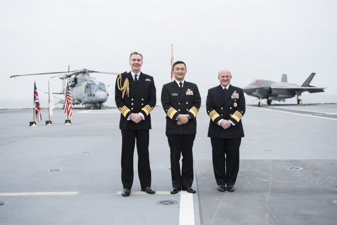 CNO Gilday Signs Trilateral Cooperation Agreement with U.K., Japan Navy Heads