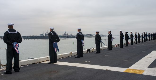 USS Wasp Arrives In Norfolk, Completing Homeport Shift From Japan