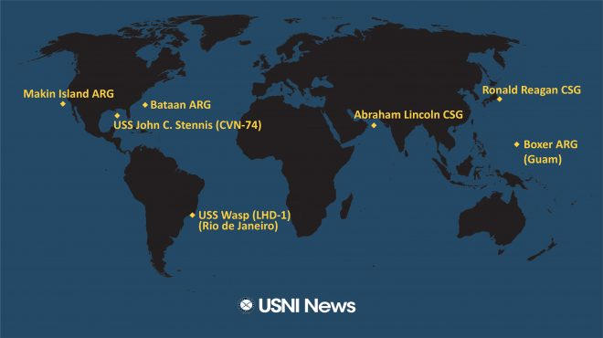 USNI News Fleet and Marine Tracker: Nov. 4, 2019