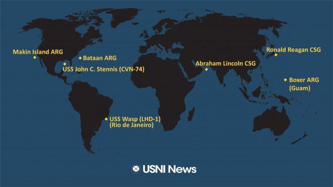 USNI News Fleet and Marine Tracker: Nov. 4, 2019