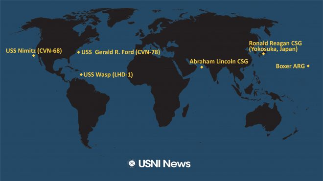 USNI News Fleet and Marine Tracker: Nov. 12, 2019