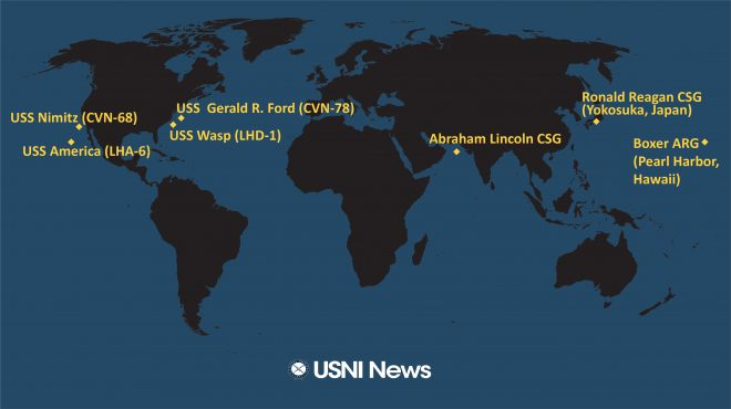 USNI News Fleet and Marine Tracker: Nov. 18, 2019