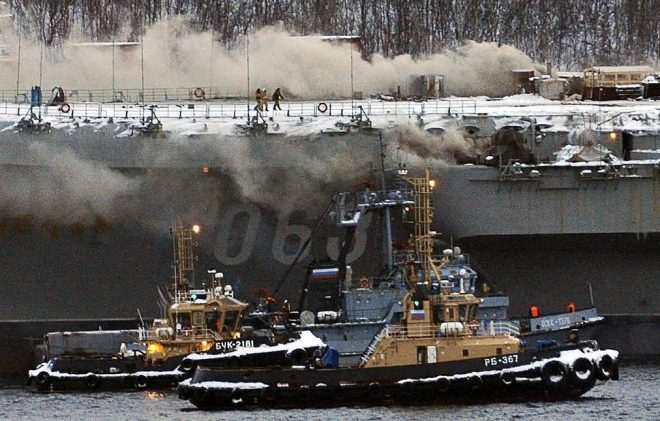 Russia's Only Aircraft Carrier Burning After Welding Mishap, At Least 1 Dead