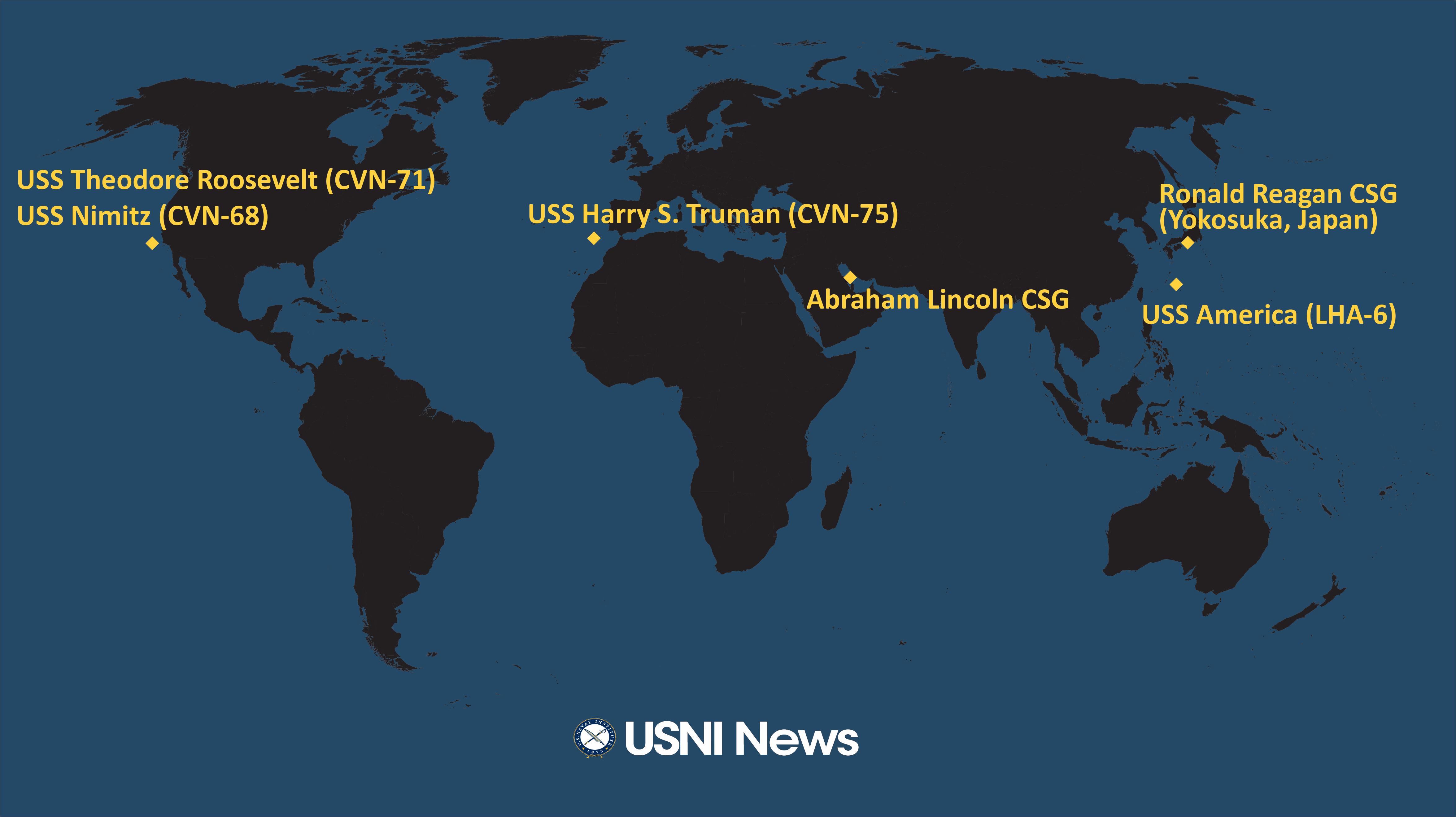 USNI News Fleet and Marine Tracker: Dec. 2, 2019