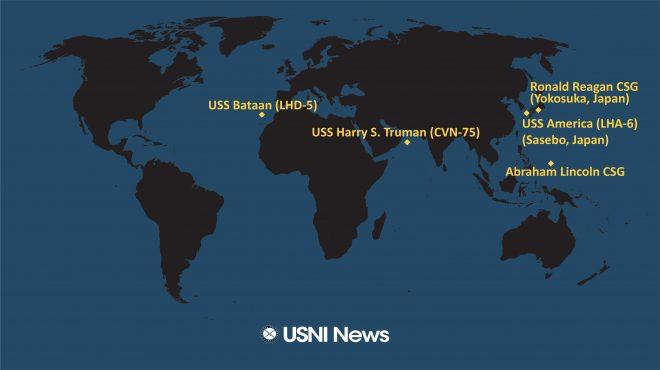 USNI News Fleet and Marine Tracker: Dec. 30, 2019