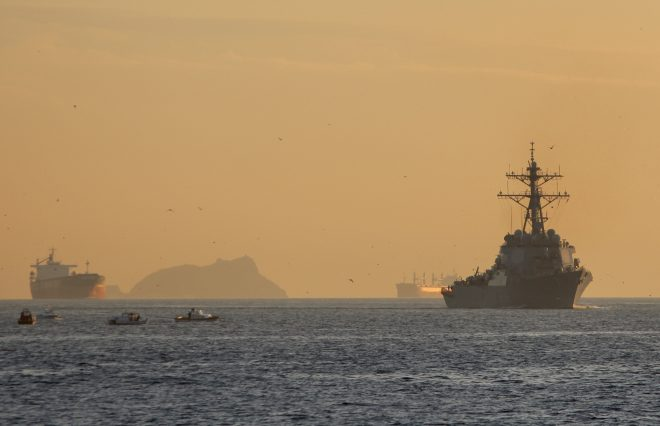 USS Ross Tailed By Russian Corvette in Black Sea