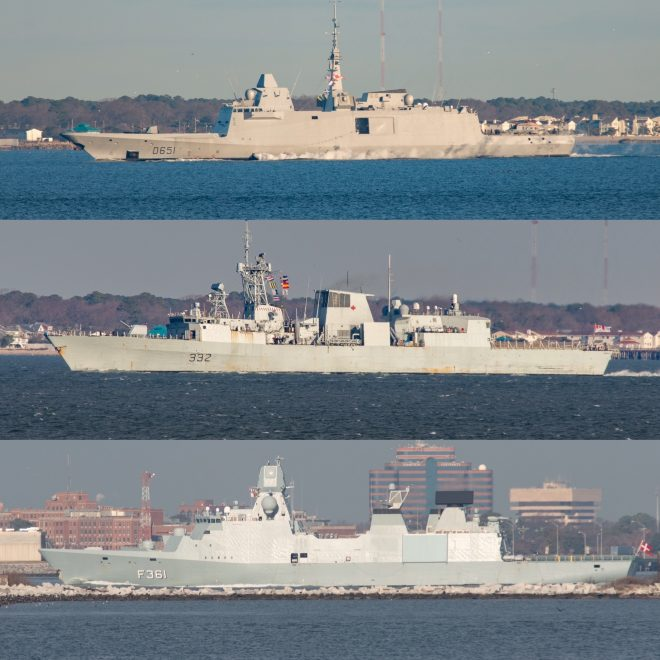 Three Allied Frigates Converge on East Coast Ahead of Eisenhower CSG Deployment