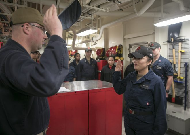 Navy Hits 2019 Enlisted Sailor Retention Targets