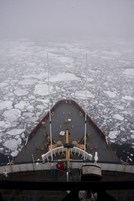 Coast Guard Icebreaker Polar Star Breaks Out McMurdo Station in Antarctica